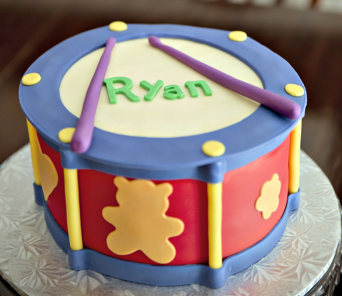 Magnificent Drum Birthday Cake Mayahood Personalised Birthday Cards Paralily Jamesorg