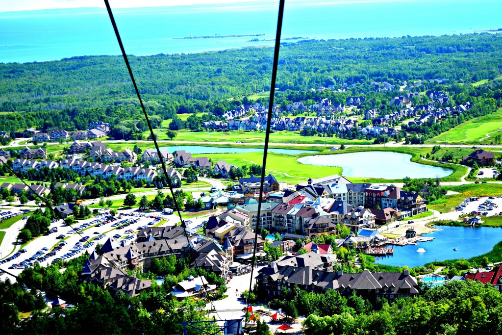 Blue Mountain aerial view