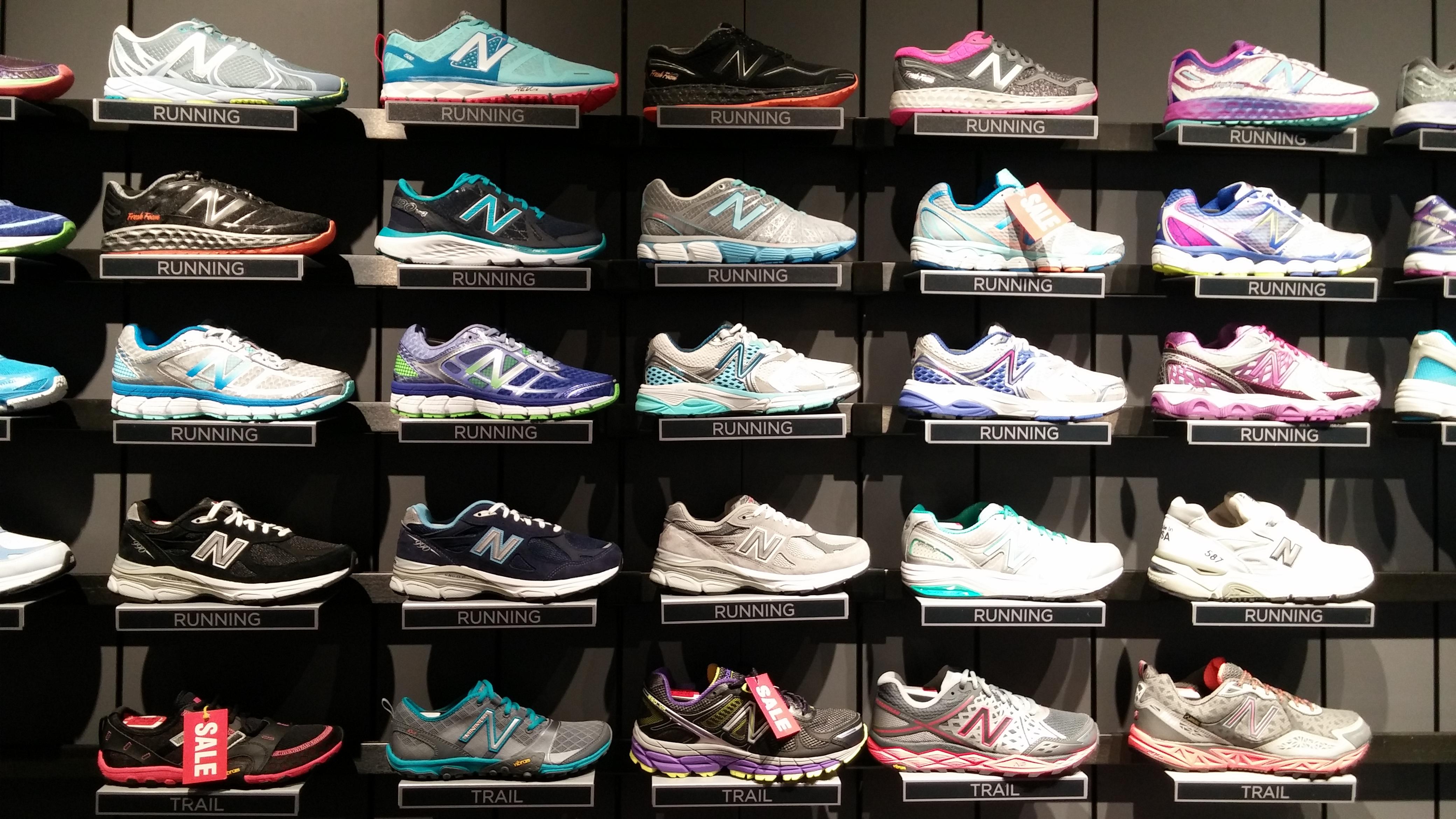 new balance shoe wall