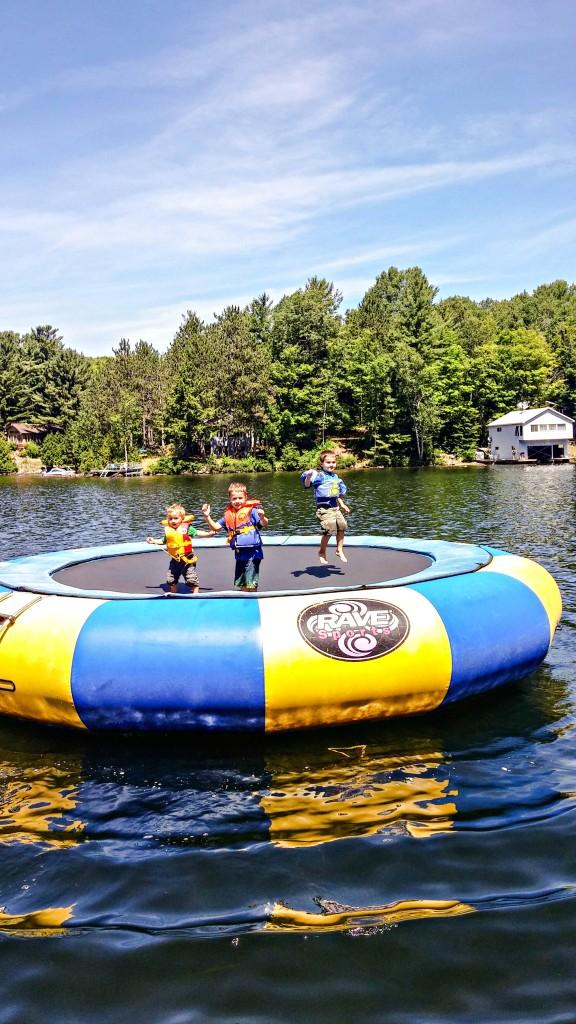 cottage water trampoline