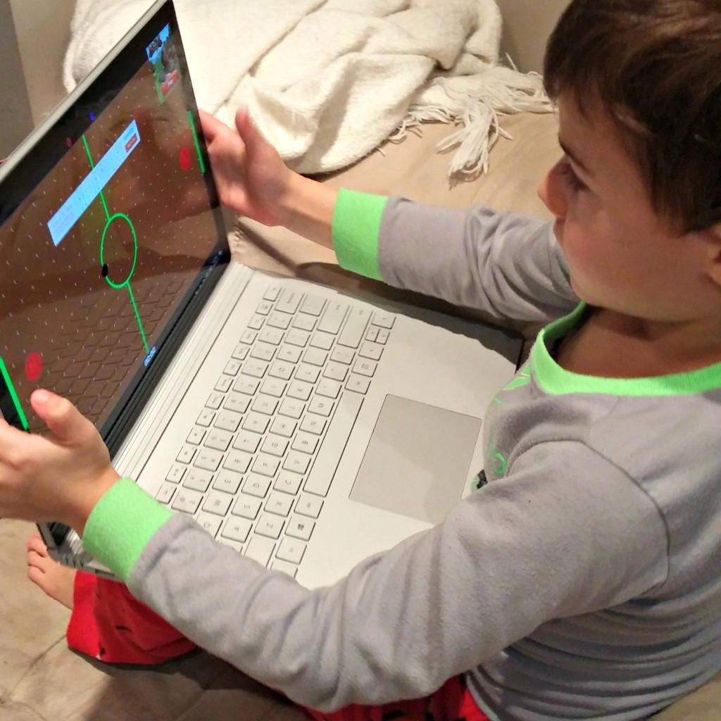 Microsoft Surface Book hockey game