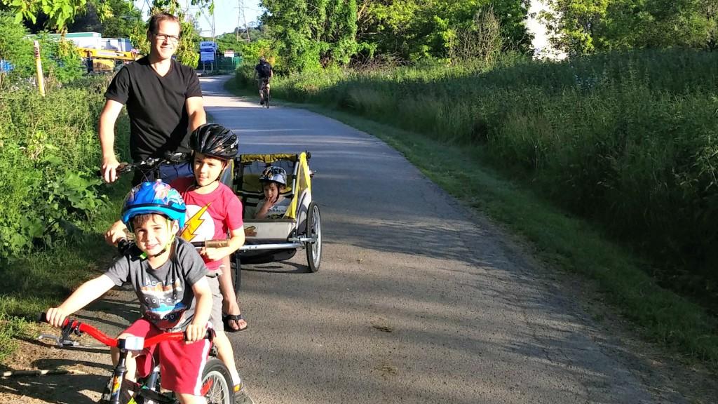 John and the boys bike ride
