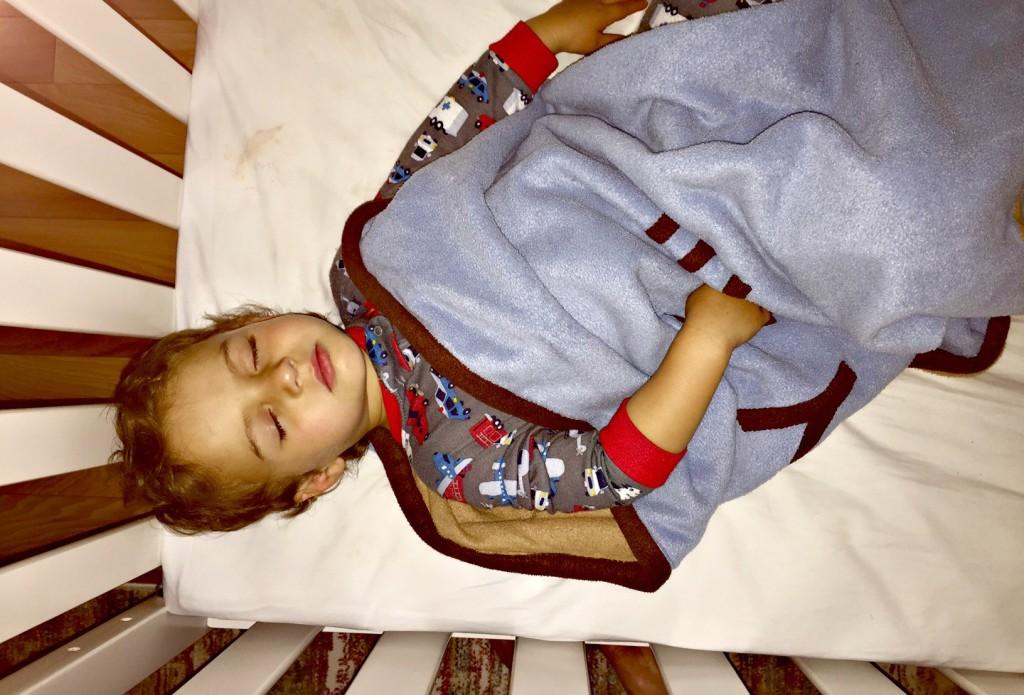 Pampers Nate sleeping