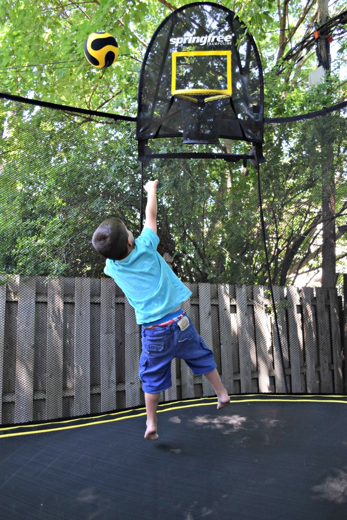 Springfree Ryan playing basketball