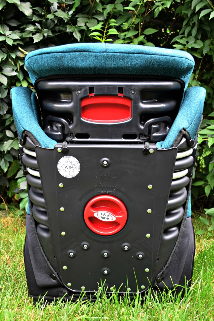 Diono booster seat back view