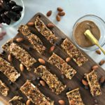 No bake almond and chocolate chip granola bar
